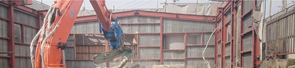 倉庫・工場の解体工事